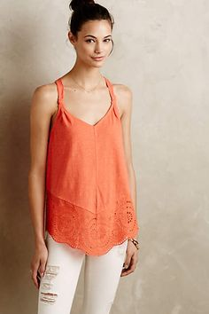 Knotted Lace Tank - anthropologie.com #anthrofave