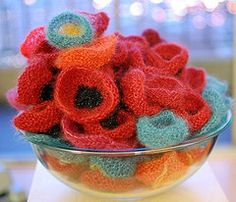 Love these knitted poppies by my friend Nancy Ricci.