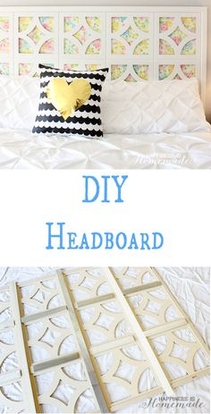 Make your own headboard with a vintage sheet and wood art frames - it's SO simple! It's easy to make your own headboard using pre-cut wooden art frames! Diy Projects To Try, Home Projects, Diy Headboards, Headboard Ideas, Diy Fabric Headboard, Homemade Headboards, Upholstered Headboards, Bedroom Ideas, Make Your Own Headboard
