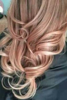 rose, gold ombre