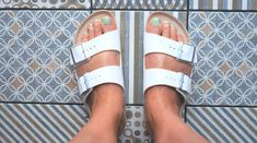 These walking sandals can be worn all day, pain-free. The best sandals for traveling, as chosen by Health editors and experts. Stylish Sandals, Comfortable Sandals, Supportive Sandals, Birkenstock Sandals, Birkenstock Arizona, Two Strap Sandals, Fashion And Beauty Tips, Comfy Shoes, Bare Foot Sandals