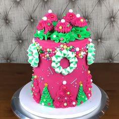 Christmas Themed Cake, Christmas Desserts, Christmas Treats, Christmas Love, Xmas, Cake Decorating Videos, Cake Videos, Cake Art, Themed Cakes