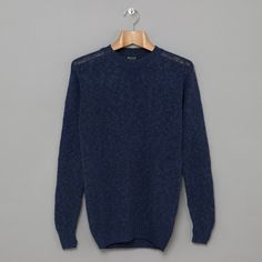 Howlin' By Morrison / Archibald Cotton Linen Crew Knit - Navy