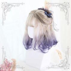 Kawaii Hairstyles, Pretty Hairstyles, Wig Hairstyles, Anime Wigs, Anime Hair, Kawaii Wigs, Lolita Hair, Short Curls, Halloween Wigs
