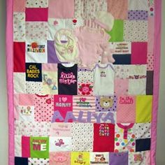 Baby Clothes Quilt - Well I guess I need to learn to quilt...