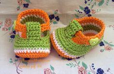 Crochet Baby Booties T-strap - pattern pdf 6