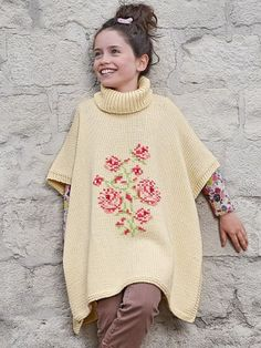 Bergere de France knitting patterns, Bergere de France 2 - 12 years Collection - 168, 33 Turtleneck Cape, from Laughing Hens