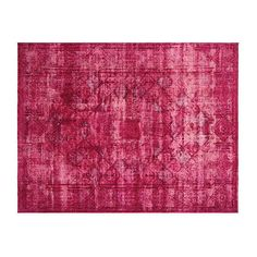 "Pre-Owned Persian Overdyed Carpet 9'5"" x 12'4"" ($2,989) ❤ liked on Polyvore featuring home, rugs, fuchsia, persian area rugs, fuschia rug, persian style rugs, hand woven rugs and persian style area rugs"