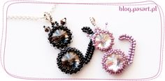 Translate for step by step east cat pendant ~ Seed Bead Tutorials