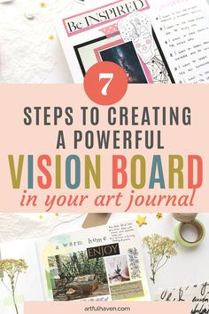 Art Journal Prompts, Art Journal Techniques, Art Journal Pages, Art Journaling, Artist Journal, Journal Notebook, Junk Journal, Bullet Journal Vision Board, Planner Free
