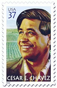 US Postal Service Honors Cesar Chavez In the United States Postal Service honored Chavez with this postage stamp. Cesar Chavez Day, Commemorative Stamps, Hispanic Heritage Month, Chicano Art, Event Calendar, Stamp Collecting, Postage Stamps, Civil Rights, Federal