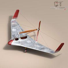 3D Model Rubber band airplane c4d, obj, 3ds, fbx, ma, lwo 60119