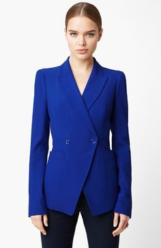 Alexander McQueen Leaf Crepe Blazer available at #Nordstrom <-- I NEED THIS