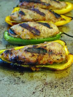 Soup Spice Everything Nice: Grilled Italian Sausage Stuffed Peppers
