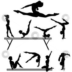 Free Printable Gymnastic Silhouettes | To use this stock image in your creative project, please select the ...