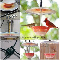 Wonderful DIY Beautiful Teacup Bird feeder | WonderfulDIY.com
