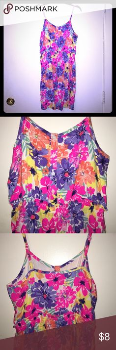 Girls Summer Dress Very cute light weight summer Dress, spaghetti straps adjustable, floral print with elastic around waist Cherokee Dresses Casual