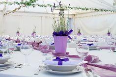 tischdeko für hochzeit mit lavendel