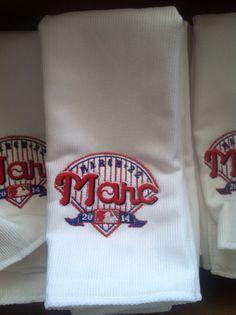 Baseball themed Bar Mitzvah. Rally towels