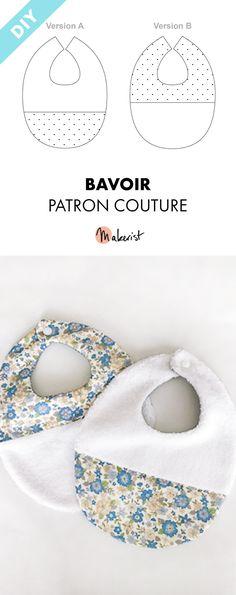 Bavoir à coudre soi-même - Patron PDF sur Makerist.fr #couture #bébé #diy #accessories #couturefacile #tuto #tutoriel #patron