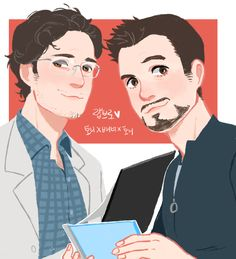 Bruce Banner and Iron Man