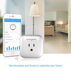 Overview Koogeek Smart Plug is a Wi-Fi-enabled smart wall plug that works with Apple HomeKit. It lets you control, monitor and schedule connected devices ev