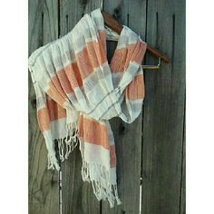 Lightweight Striped Scarf Great, perfect condition! Lightweight and perfect for summer.  Ask any questions you may have about more pictures or measurements! I welcome all reasonable offers, so please use the offer button! Also bundle with another item in my closet to save 15% tickled pink Accessories Scarves & Wraps