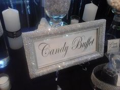 Silver Panoramic Sign - Sweetheart Table - Candy Buffet - Guest Book - Nursery Decor - You Choose Color
