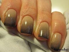 ▶ Black & nude ombre gradient nail tutorial - Cieniowane zdobienie paznokci - Basevehei - YouTube
