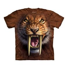 Sabertooth Tiger Face Tee Adult now featured on Fab.