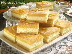 Placinta-cu-branza-si-lamaie-3-1 Romanian Food, Romanian Recipes, No Cook Desserts, Food Cakes, Cake Cookies, Hot Dog Buns, Cake Recipes, Bakery, Good Food