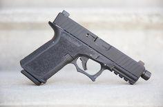 @polymer80inc #PS9c DLC #Glock19 compatible slide with @silencerco threaded barrel, @ameriglosights and mostly standard @glockinc internal parts on a #PF940C frame with @skjldbrg Mod 1 texture and OEM Trigger Upgrade. @etsgroup 15 round #Glock magazine.  •  • #guns #firearms #glock #polymer80 #p80 #skjaldborg #ameriglo #silencerco #dlc #edcgear #edc #everydaycarry #quickdetach #dlc #compensator #gun #igmilitia #gunporn #gunsdaily #gunsofinstagram #gunbuild #customglock #g19 #9mm #glockporn