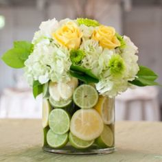 green reception wedding flowers, wedding decor, wedding flower centerpiece, wedding flower arrangement, add pic source on comment and we will update it. can create this beautiful wedding flower look. Lime Centerpiece, Fruit Centerpieces, Wedding Centerpieces, Wedding Decorations, Decor Wedding, Lime Wedding, Yellow Wedding, Wedding Day, Summer Wedding