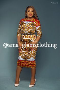 Product Information  Made with artistically unique and quality African Wax print, kemka Dress is a need-to- have for any lady who loves art. The silhouette of the dress has been kept simple knowing full well that simplicity speaks volume. Just like every other piece in our new collection, kemka Ankara Dress, Ankara Fabric, African Dress, Ankara Tops, Mixing Prints, Pencil Dress, African Fashion, My Girl, Bodycon Dress