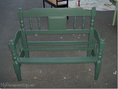 twin bed headboard bench - looks a little like our twin bed.