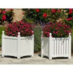 Square Solid Wood Lexington Planter Box.  Found these at walmart.com.  Would love these on my front porch.