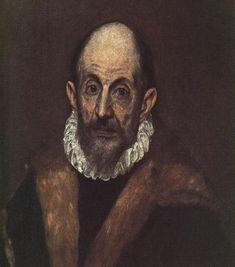 El Greco - Doménikos Theotokópoulos, Self Portrait, 1595/1600