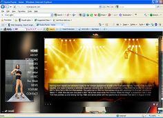 Websitedesign for Tiyana Payne - Model, Singer and Musician.