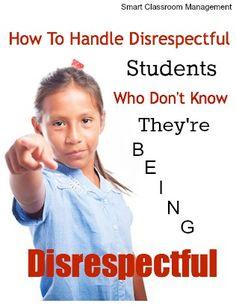handling disrespecful students