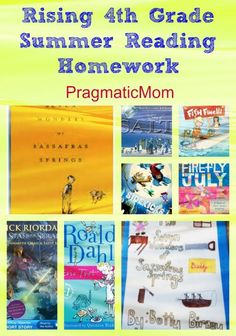 My son's 4th Grade Summer Reading Book List and Homework Project :: PragmaticMom