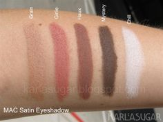 MAC Eyeshadow: Satin, Swatches, Photos, Reviews