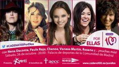 Nena Daconte, Paula Rojo, Chenoa, Vanesa Martín, Rosana. 26/10. Palacio de Deportes de Madrid
