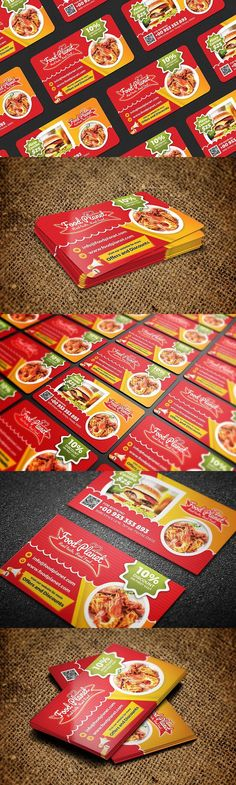 Food and Restaurant Business Card #foodbusinesscard #restaurantbusinesscard