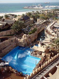 The Wild Wadi Water Park is an outdoor water park in Dubai, United Arab Emirates. Situated in the area of Jumeirah, next to the Burj Al Arab and the Jumeirah Beach Hotel.