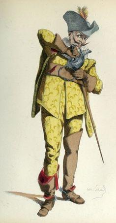 IL CAPITANO (1668) Illustrating the Italian Commedia dell'Arte, or Impromptu Comedy.