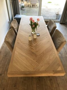 Dinner Tables Furniture, Diy Dining Room Table, Diy Coffee Table, Dining Room Design, Wood Interior Design, Wood Design, Diy Furniture Projects, Kitchen Remodel, Kitchen Decor