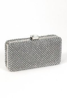 silver satin bridal wedding prom party clutch handbag | Beauty ...