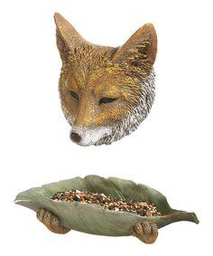 Loving this Fox Tree Feeder on #zulily! #zulilyfinds
