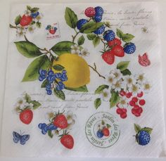 Guardanapo Frutas