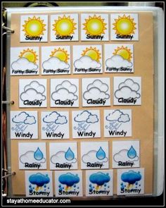 This is the solution to limited bulletin board space for preschool circle time if you have a mobile classroom or have limited classroom space. Science Center Preschool, Science For Toddlers, Preschool At Home, Preschool Lessons, Preschool Crafts, Daycare Crafts, Weather Calendar, Calendar Time, Calendar Board